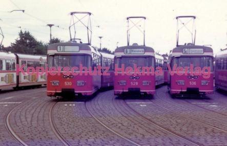 Bremen Straßenbahn Depot Flughafendamm Wagen Nr 530 529 Und