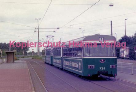 Bremen Straßenbahn - Hauptbahnhof - Linie 6 Wagen Nr. 724