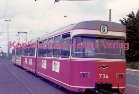 Bremen Straßenbahn - Hauptbahnhof - Linie 6 Wagen Nr. 734