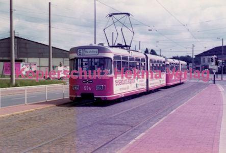 Bremen Straßenbahn - Hauptbahnhof - Linie 6 Wagen Nr. 534