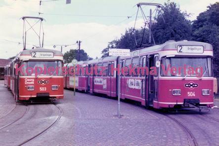 Bremen Straßenbahn - Sebaldsbrück - Linie 2 Wagen Nr. 503 und Nr. 504