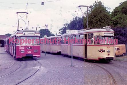 Bremen Straßenbahn - Sebaldsbrück - Linie 2 Wagen Nr. 503 und Linie 10 Wagen Nr. 504