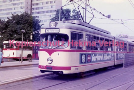 Düsseldorf Straßenbahn - Jan-Willem-Platz - Linie 710 Wagen Nr. 9351
