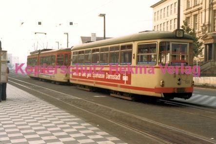 Darmstadt Straßenbahn - Langer Ludwig - Linie 8 Wagen Nr. 156