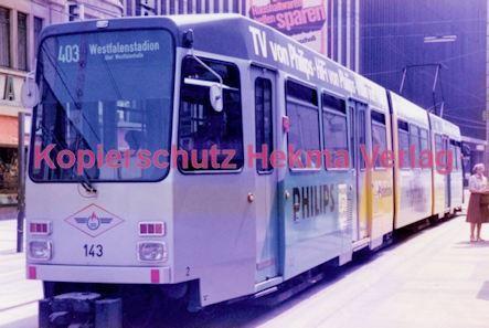 Dortmund Straßenbahn - Haltestelle Kampstraße - Linie 403 Wagen Nr. 143