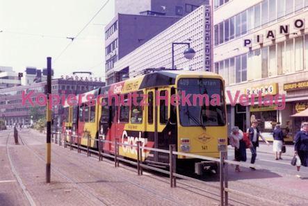 Dortmund Straßenbahn - Haltestelle Kampstraße - Linie 409 Wagen Nr. 141