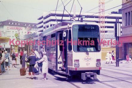 Dortmund Straßenbahn - Haltestelle Kampstraße - Linie 401 Wagen Nr. 127