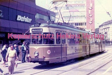 Dortmund Straßenbahn - Haltestelle Kampstraße - Linie 404 Wagen Nr. 4