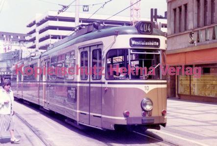 Dortmund Straßenbahn - Haltestelle Kampstraße - Linie 404 Wagen Nr. 10