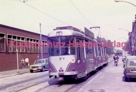 Duisburg Straßenbahn - Hauptbahnhof - Linie E Wagen Nr. 1089