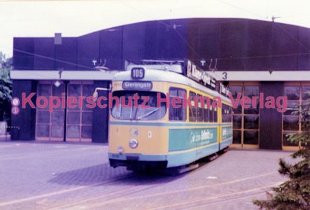 Essen Straßenbahn - Depot Borbeck - Linie 105 Wagen Nr. 1610