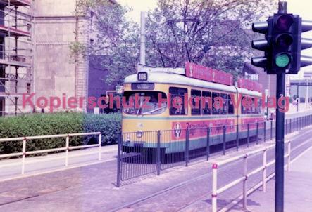 Essen Straßenbahn - Viehofer Platz - Linie 111 Wagen Nr. 1642