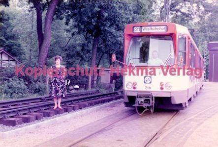 Frankfurt Straßenbahn - Verkehrsmuseum Schwanheim - Linie 21 Wagen Nr. 718