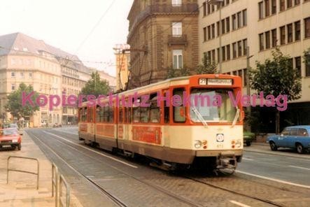 Frankfurt Straßenbahn - Theaterplatz - Linie 21 Wagen Nr. 673
