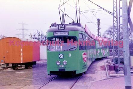 Frankfurt Straßenbahn - Linie 14 Wagen Nr. 809 - Bild 1