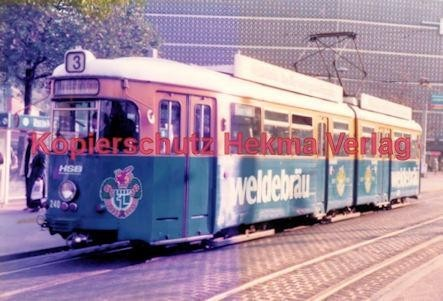 Heidelberg Straßenbahn - Bismarckplatz - Linie 3 Wagen Nr. 240