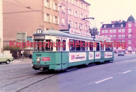 Heidelberg Straßenbahn - Bunsengymnasium - Linie 1 Wagen Nr. 227