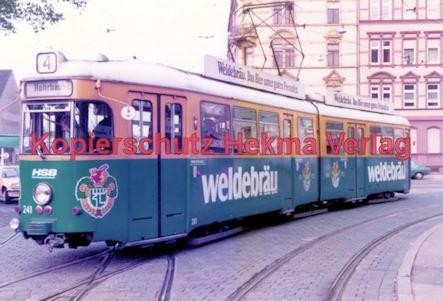 Heidelberg Straßenbahn - Rohrbach - Linie 4 Wagen Nr. 241