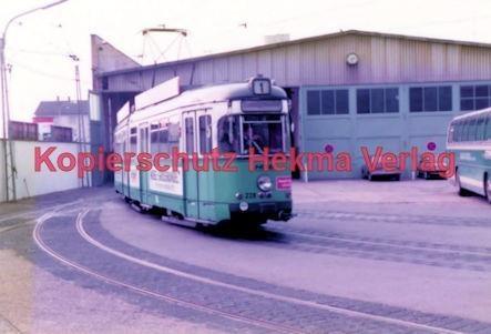 Heidelberg Straßenbahn Depot Linie 1 Wagen Nr 228 Hekma