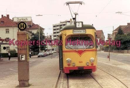 Karlsruhe Straßenbahn - Durchlach Entstation - GlTw. Nr. 190