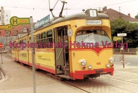 Karlsruhe Straßenbahn - Durchlach Entstation - GlTw. Nr. 188