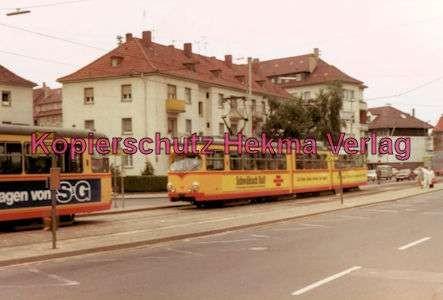 Karlsruhe Straßenbahn - Durchlach Entstation - GlTw. Nr. 190 - 2