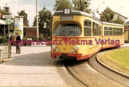 Karlsruhe Straßenbahn - Rintheim Endschleife - GlTw. Nr. 162 - 1