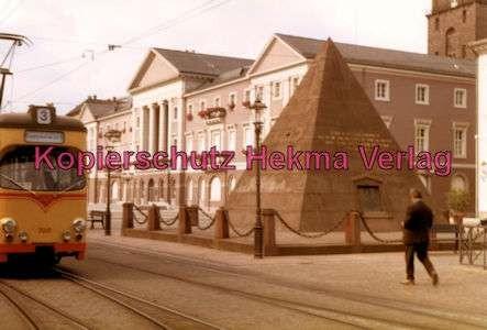 Karlsruhe Straßenbahn - Marktplatz Kaiserstr. Pyramide - GlTw. Nr. 208