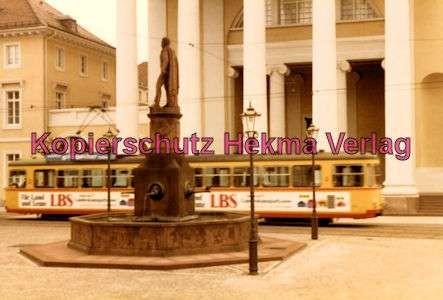 Karlsruhe Straßenbahn - Ev. Stadtkirche - GlTw.