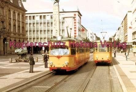 Karlsruhe Straßenbahn - Europaplatz - GlTw. Nr. 159 und GwTl. Nr. 188