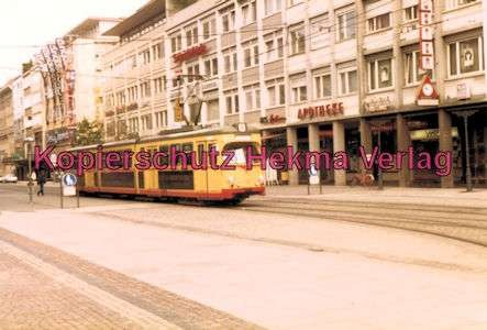 Karlsruhe Straßenbahn - Marktplatz Kaiserstr. - GlTw. Nr. 214