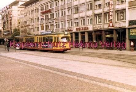 Karlsruhe Straßenbahn - Marktplatz Kaiserstr. - GlTw.