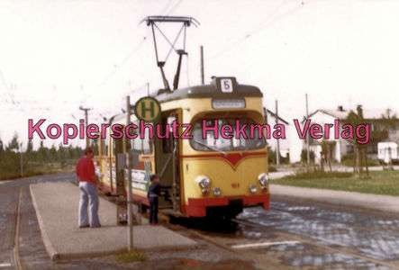 Karlsruhe Straßenbahn - Rheinhafen Endstation - GlTw. Nr. 161