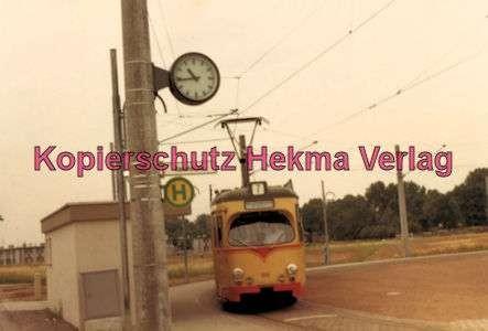 Karlsruhe Straßenbahn - Rheinstrandsiedlung Haltestelle Hammäcker - GlTw. Nr. 158