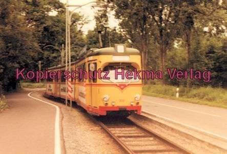 Karlsruhe Straßenbahn - Rappenwört Endstation - GlTw. Nr. 202
