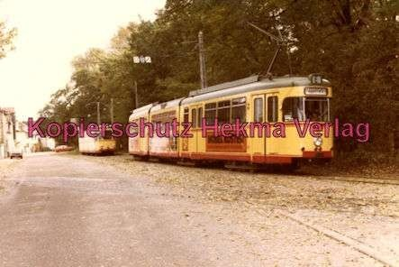 Karlsruhe Straßenbahn - Rappenwört Endstation - GlTw. Nr. 217