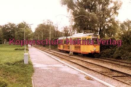 Karlsruhe Straßenbahn - Strecke Daxlanden-Rappenwört - GlTw. Nr. 217 - 1
