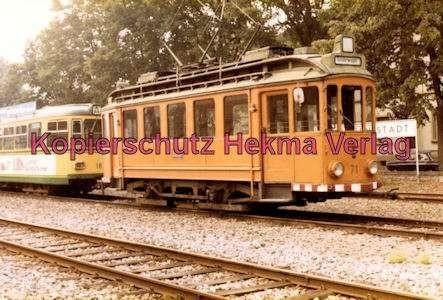 Karlsruhe Straßenbahn - Ettlingen Stadt - Spiegelwagen Nr. 71 - 3