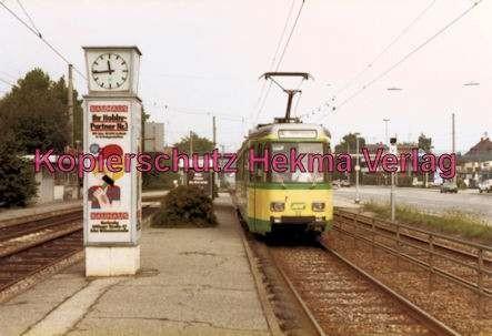Karlsruhe Straßenbahn - Haltestelle Rüppur - GT. Nr. 22