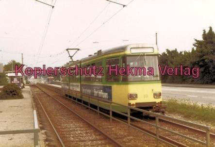 Karlsruhe Straßenbahn - Haltestelle Rüppur - GT. Nr. 23