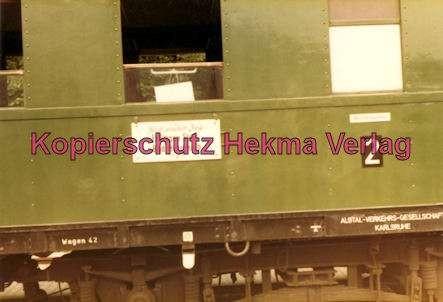 Karlsruhe Straßenbahn - Bahnhofsfest - Ettlingen Stadt - Historischer Zug - Wagen Nr. 42 (AVG)