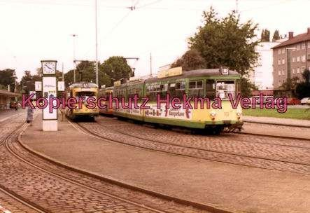 Karlsruhe Straßenbahn - Karlsruhe Albtalbahnhof - GT. Nr. 18 und GT. Nr. 10