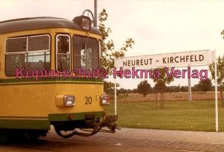 Karlsruhe Straßenbahn - Haltestelle Neureut-Kirchfeld - GT. Nr. 20