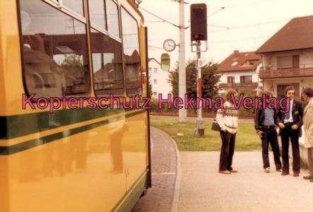 Karlsruhe Straßenbahn - Haltestelle Neureut-Kirchfeld Endschleife - GT. Nr. 20 als Eilzug - 3