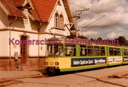 Karlsruhe Straßenbahn - Bahnhof Ittersbach - GT. Nr. 23