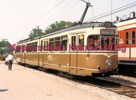 Karlsruhe Straßenbahn - Karlsruhe Albtalbahn - 25 Jahre AVG Jubiläum - GT. Nr. 224