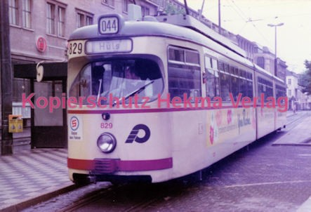 Krefeld Straßenbahn - Linie 044 Wagen Nr. 829 - Bild 1
