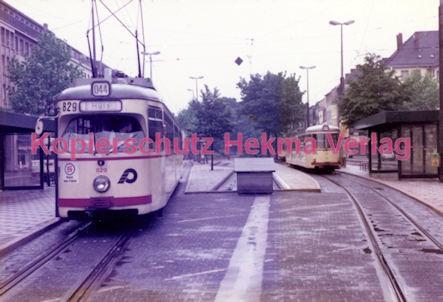 Krefeld Straßenbahn - Linie 044 Wagen Nr. 829 - Bild 2