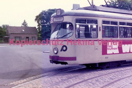 Krefeld Straßenbahn - Linie 041 Wagen Nr. 825