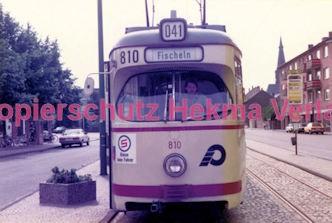 Krefeld Straßenbahn - Linie 041 Wagen Nr. 810